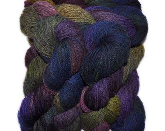 Hand dyed yarn - Alpaca / American wool yarn, Worsted weight, 240 yards - Chasca