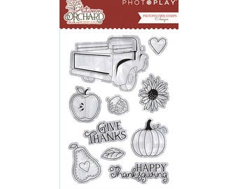 Photo Play AUTUMN ORCHARD Clear Polymer Stamp Set