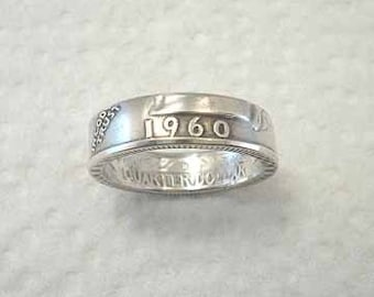 Sizes 4.5 - 7. Coin Ring,  Washington Silver Quarter,  Place Your Custom Order Here.