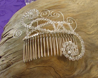 Crystal Hair Comb, Bridal Hair Comb, Bridal Accessory, Gatsby Hair Comb, Whimsical Hair Comb, Swarovsky Crystal Hair Comb, Vintage Hair Comb