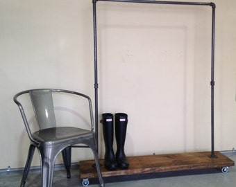 Urban Industrial plumbing pipe garment rack.  Clothing Rack for clothing and shoe storage.  Store fixture