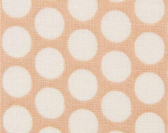 217542 brown fabric with light cream dot circle
