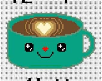 I Love You A Latte - Cross Stitch Pattern (PDF Pattern Only)
