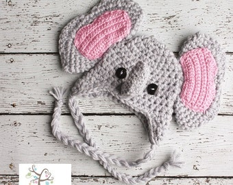 Newborn Elephant hat, Newborn photography prop, newborn boy, newborn girl,crochet hat, elephant hat