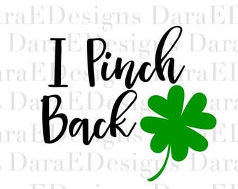 I Pinch Back Decal for Heat Transfer Vinyl SVG Cut File for Silhouette and Cricut