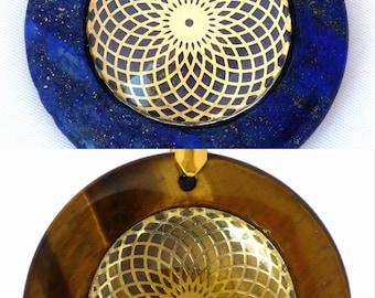 Torus Vortex Circular Sacred Geometry Pendant