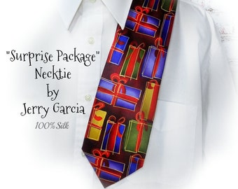 men's Christmas tie - Christmas present tie -  tacky Christmas necktie - Holiday tie - Christmas necktie - silk tie     # T5 accessories