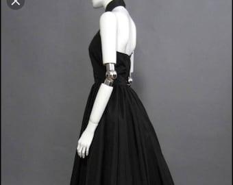 Vintage Victor Costa Fifth Avenue halter dress gown