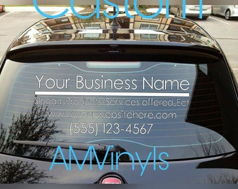 SALE*Direct Sales, Custom Business Car Decal You choose size, Name, website and phone window sticker