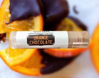 Orange Chocolate Lip Balm/ Orange Lip Balm/ Natural Lip Balm/ Lip Balm/ Vegan Lip Balm / Beeswax Lip Balm / Chocolate lip balm / Organic Lip