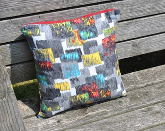 Vintage Barkcloth Cushion Cover.