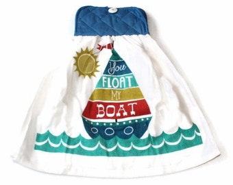 Pot Holder Top Sailing Boat Kitchen Towel