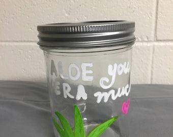 Custom Quote Glass Jar