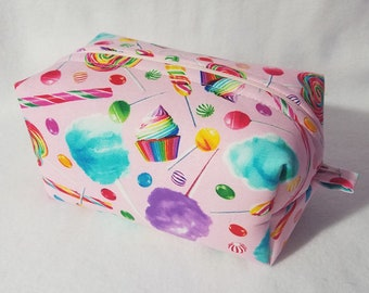 Cotton Candy and Cupcakes Box Zipper Pouch