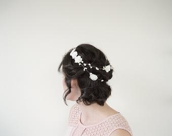 Woodland Flower Crown | Flower Bridal Crown | White Flower Crown | Floral Crown Wedding