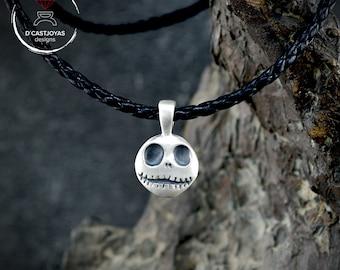 Silver pendant Jack Skellington inspired, Silver Cosplay pendant, Silver pendant, Gothic pendant, Handmade pendant, Skull pendant