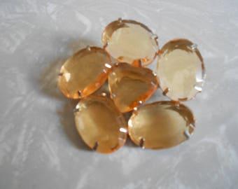 Vintage Amber Flower Pin