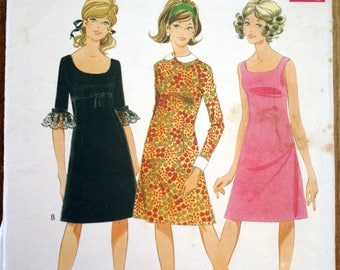 Vintage 1960's Style snip sewing pattern #2203 empire A-line dress dress size 14