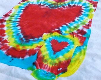 Custom Tie Dyed Matching Onesie Blanket Set