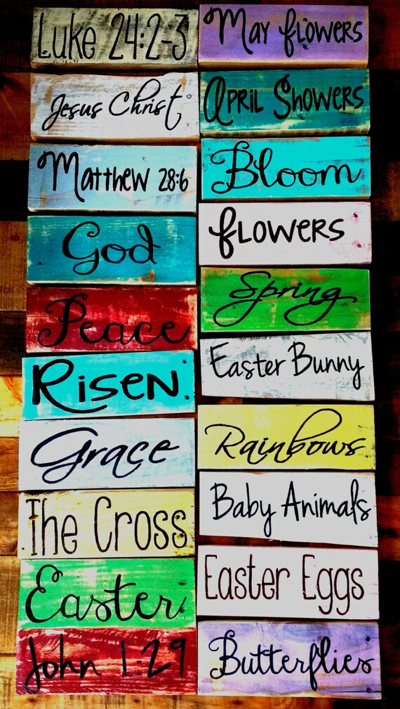 Rustic Easter Signs Pallet Board Spring Home