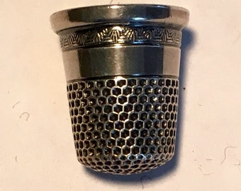 Sterling Silver vintage Thimble - needlework, sew, Mother's Day, gift, sterling, darn