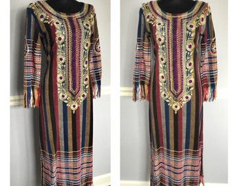 Beautiful Bohemian vintage dress- size Sm/Med