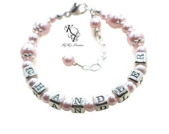 Baby Jewelry Custom Baby Bracelet Baby Name Bracelet Personalized Baby Bracelet Little Girl Bracelet Keepsake Bracelet Baby Gifts Baptism