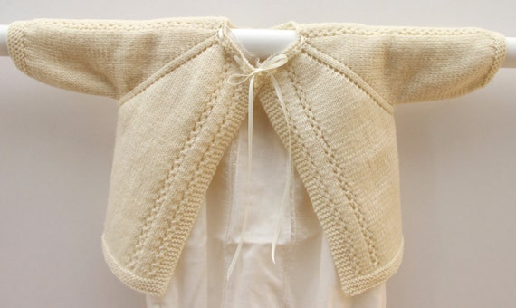 Lace Cardigan Instructions in English / PDF Instant download / 3 Sizes : 6 / 12 and 24 months
