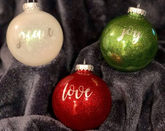 Peace, Love, & Joy Ornament Set