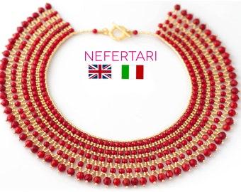 PDF Pattern ITA or ENG Nefertari Necklace