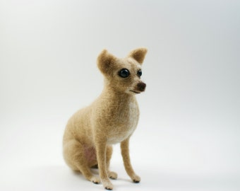 Needle Felted Chihuahua - Custom dog - MADE To ORDER