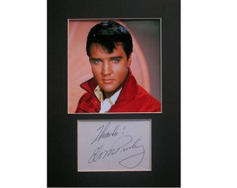 Elvis Presley printed signed autograph 8x6 inch mounted photo print display #1