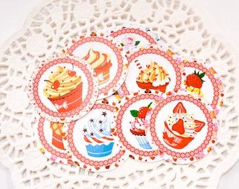 Cupcake Party Favor Tags, Cupcake Birthday Tags, Cupcake Party Decor, Cupcake Favors