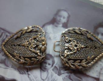 Filigree Antique Belt Buckle-Vintageschmuck-old accessories for belt making-faulty
