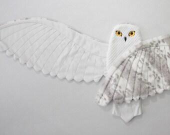 Snowy Owl baby blanket--Owl security blanket-Magical Woodland baby blanket