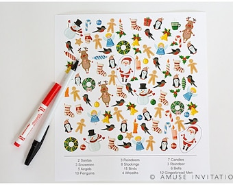 Christmas i-Spy Game, Santa ispy Game, Christmas Printables, Christmas Game, Christmas Printable Game, Games for Teachers, printable ispy