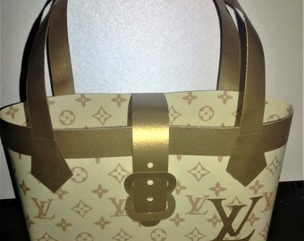 LV Inspired Paper Purse