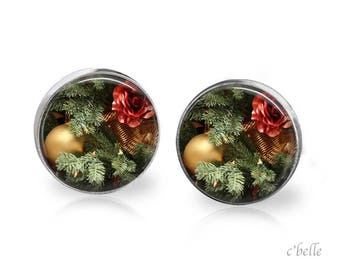 Earrings Christmastree Christmas-1