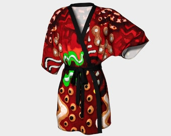 Eyes Kimono Robe: This robe is for you. Looks great on U. Treat yourself. Buy one on sale today!