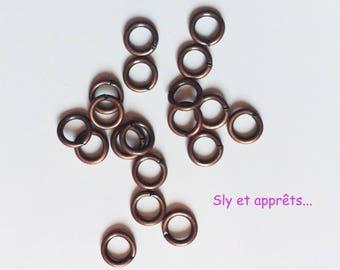 80 rings open brass 5mm