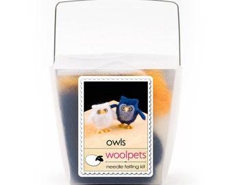 Owls Needle Felting Kit