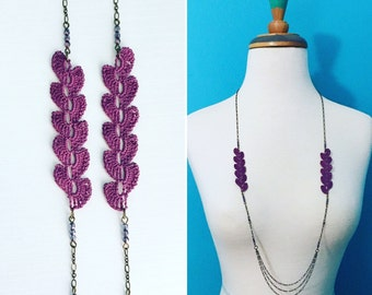 Atwood Crochet Necklace - Purple