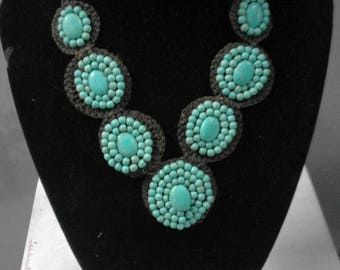 Handmade Green Turquoise Necklace