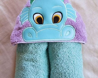 Kids Hooded Towel,Dragon Boy Kids Hooded Towel,Child's Hooded Towel,Personalized Hooded Towel,Hooded Bath Towel,Hooded Beach Towel,Kids Gift