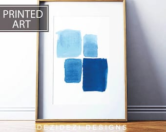 Blue Printed Art,Printed and Shipped, Abstract Art Prints ,Watercolour Printable Art, Home Decor, buy wall art, framed prints for sale