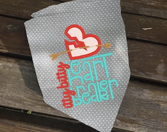 Reversible Heart Breaker Dog Bandana // Pet Bandana // Cupid Custom Gotcha Day Gift // Dog Birthday // Unique Dog Gift // Pet Lover