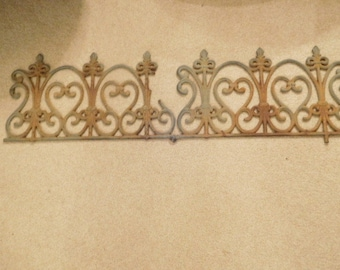 Pair of Antique Ornate Metal Trim