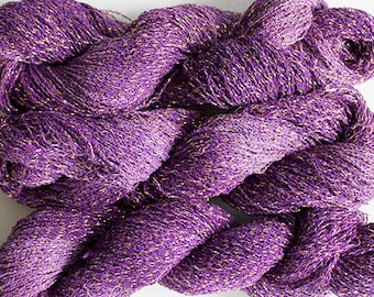 Sparkle,  fine cotton/metallic yarn, 300 yds - Grape Tonal