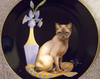 """1985 Aldo Fazio """"Samantha"""" Limited Edition Collector Plate from the Sophisticated Ladies Collection"""