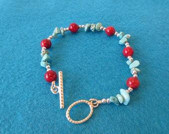 Howlite toggle bracelet